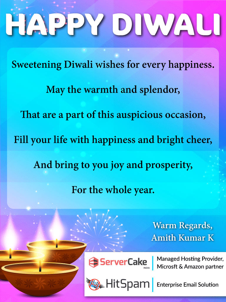 Diwali greetings from amith kumar servercake india m4hsunfo